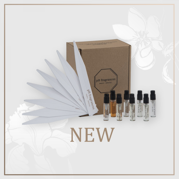 A discovery set of our 8 fragrances in 2 ml. Select your best preferred among our 8 fragrances in 2 ml and it will turn into a 100 ml. Your dicovery set of 2 ml is entirely refundable for the buying of a 100 ml or the buying of pH products for the value of 170 euros in our website.
